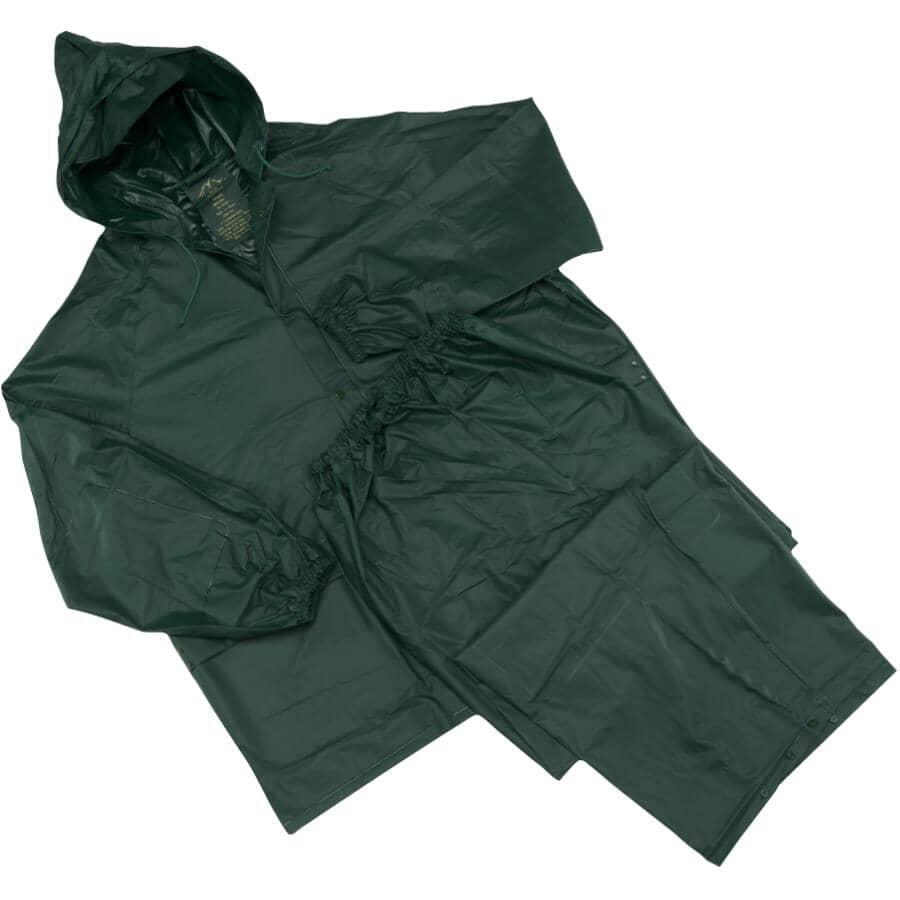 WESTCHESTER:Men's 2 Piece PVC Rain Suit - Medium, Green