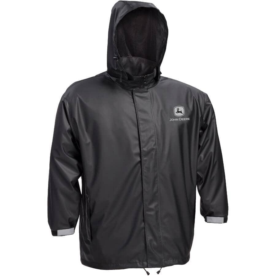WESTCHESTER:Men's John Deere Stretch Rain Jacket - Extra Large