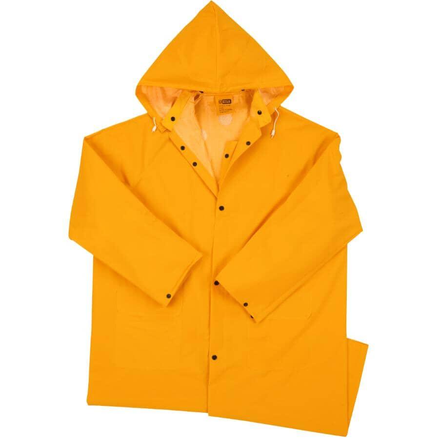 WESTCHESTER:Men's PVC Rain Jacket - Extra Large, Yellow