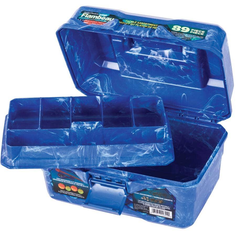 FLAMBEAU:89 Piece 6 Compartment Kids Tackle Box Kit