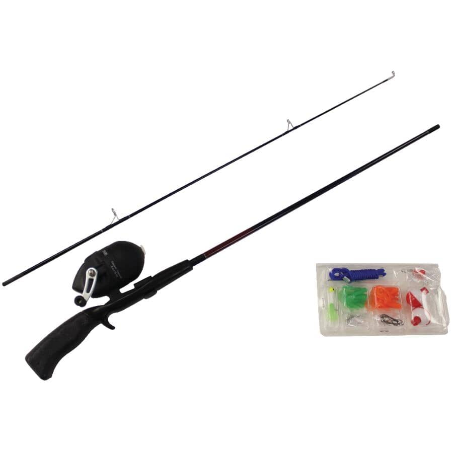 EMERY:Spinning Rod and Reel Fishing Kit, with Tackle