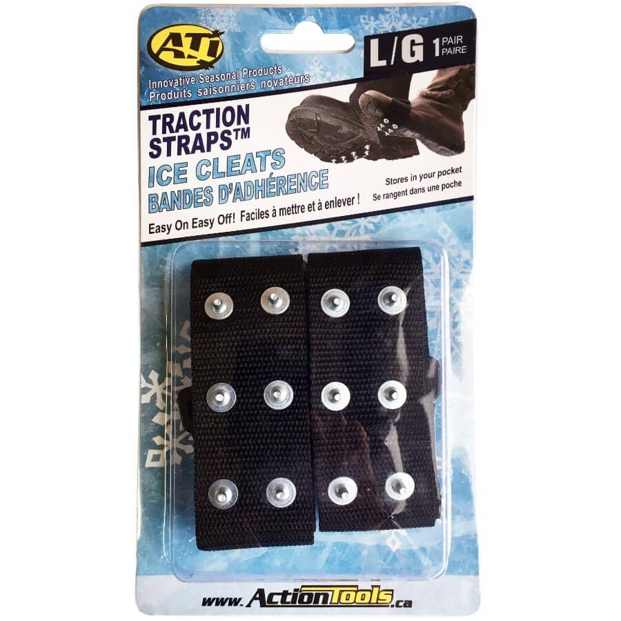 ACTION TOOLS:Large Traction Strap Ice Cleats