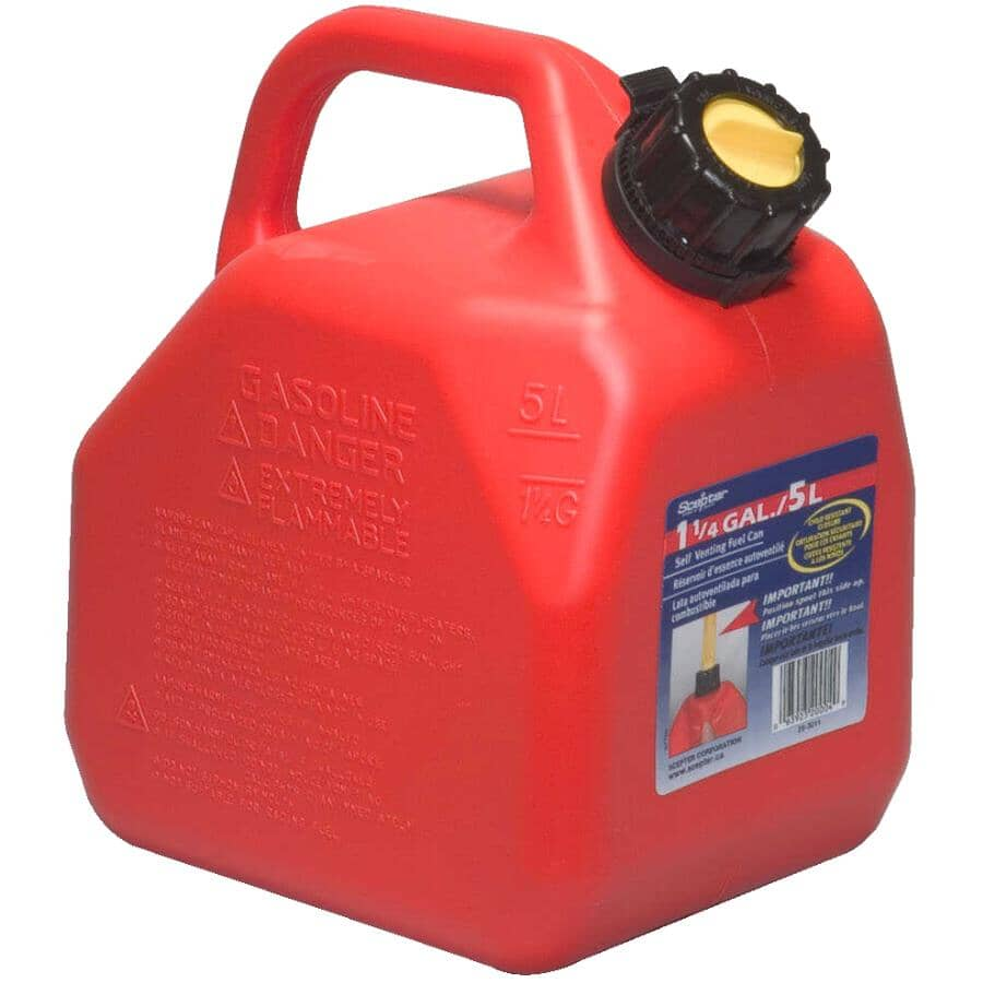 SCEPTER:5L Plastic Jerry Gas Can