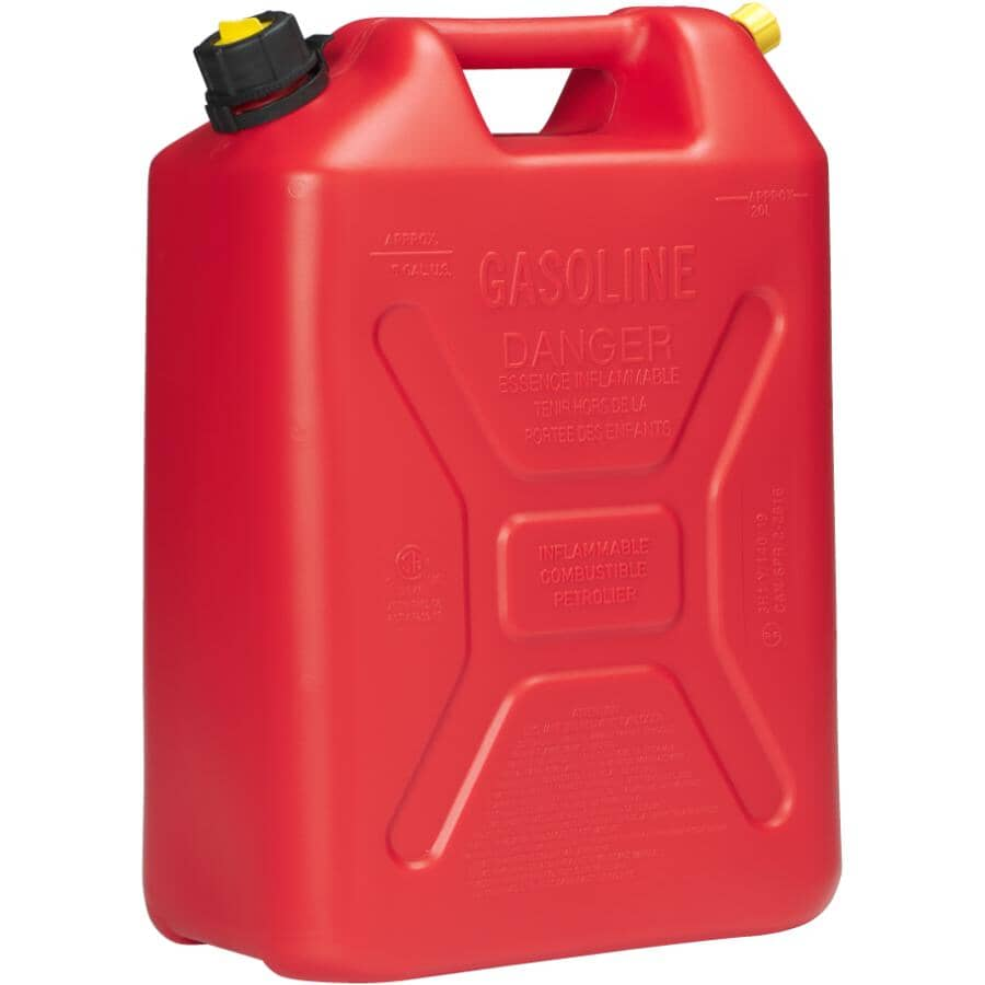 SCEPTER:20L Red Plastic Jerry Gas Can