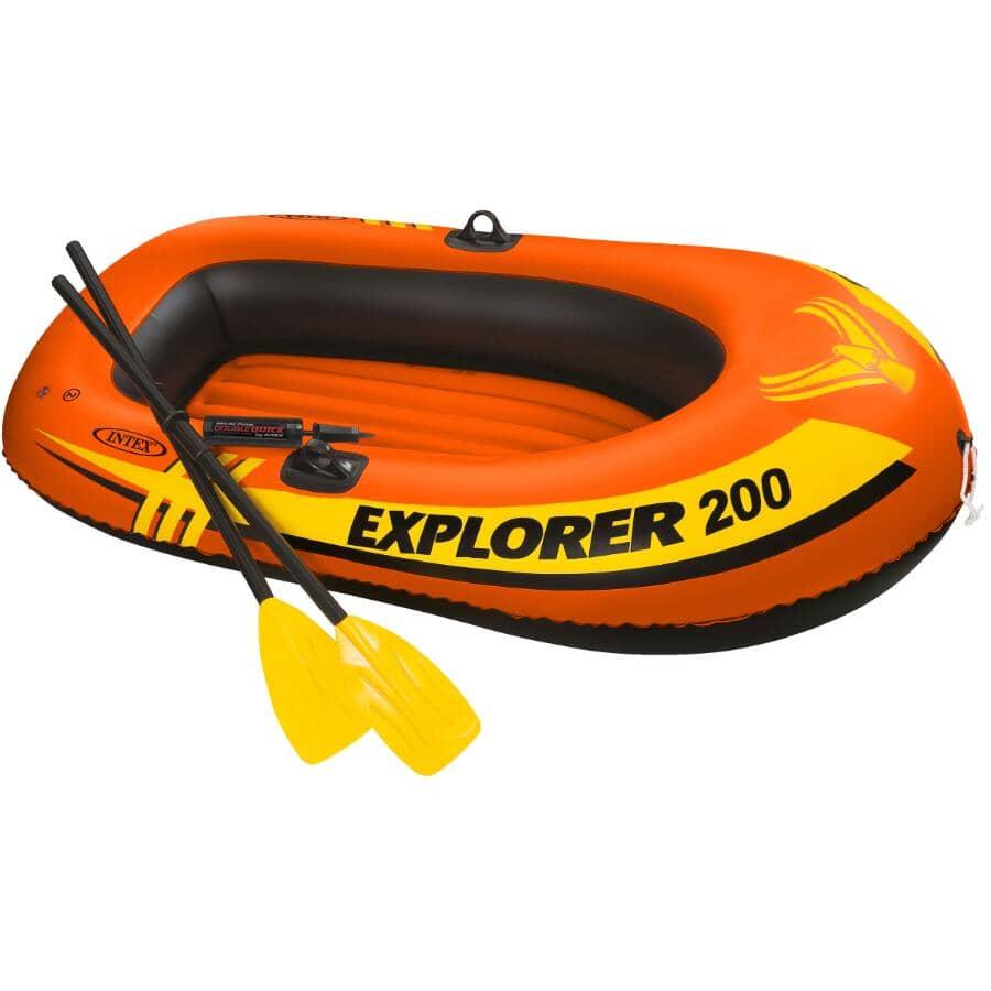INTEX:Ensemble de bateau pneumatique en vinyle pour 2 personnes, avec rames