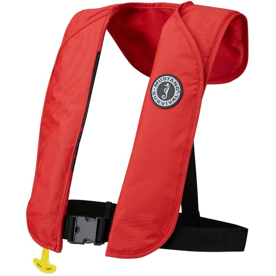 MUSTANG SURVIVAL:Red Adult Automatic Deploy PFD