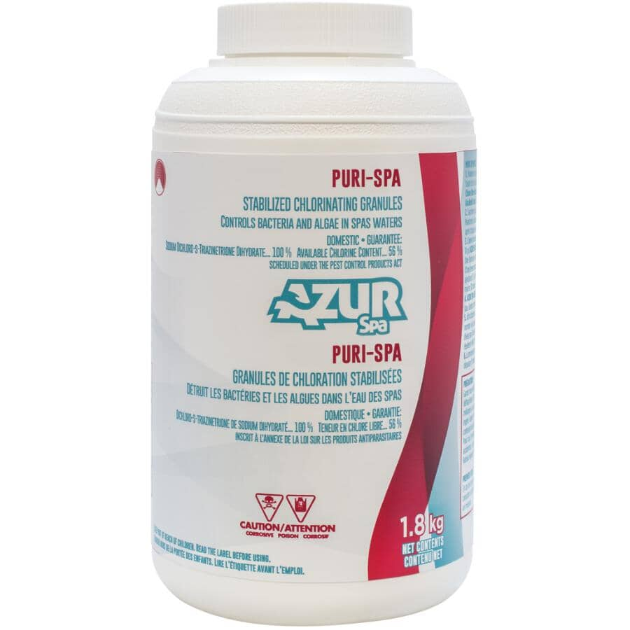 AZUR SPA:1.8kg Chlorispa Stabilized Spa Chlorine