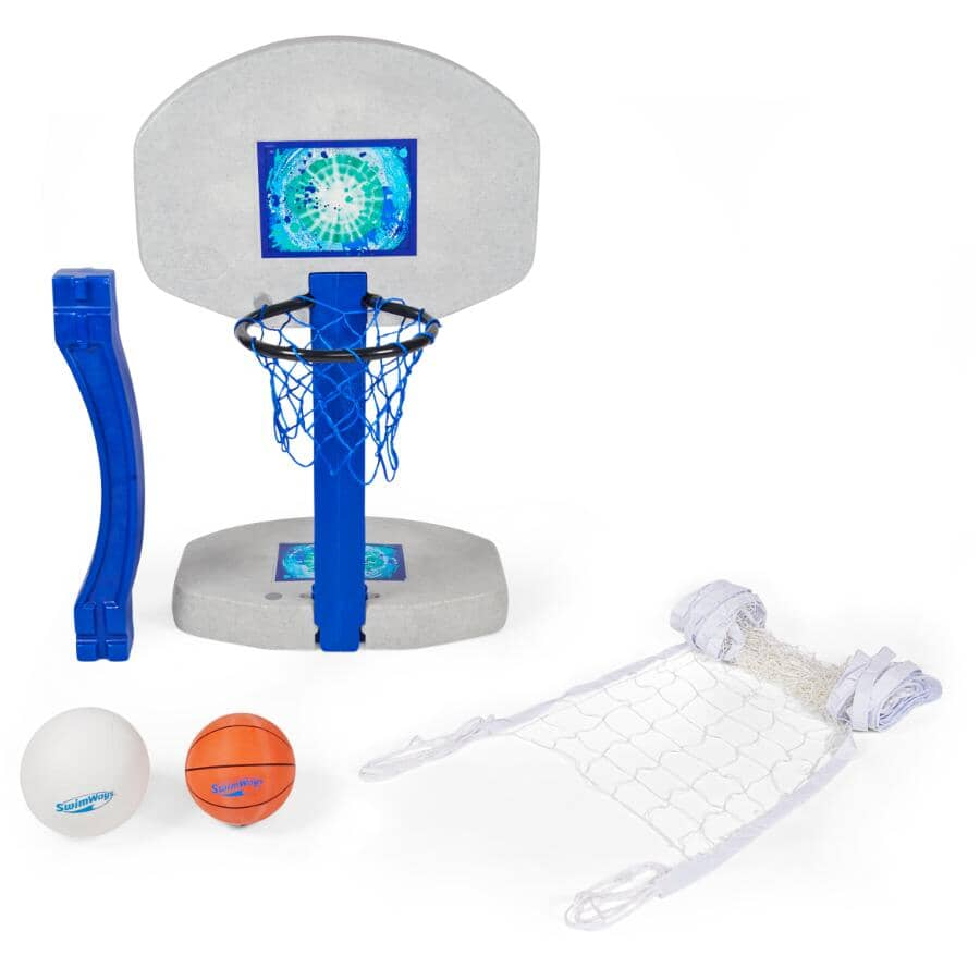 SWIMWAYS:2in1 Pool Game - Volleyball & Basketball