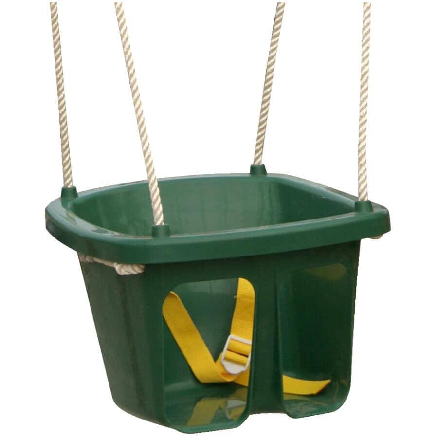 BIG BACKYARD:Green Child Swing, with Safety Belt