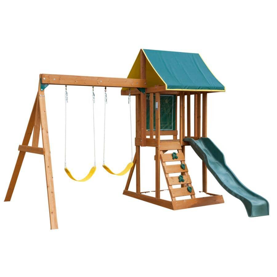 KIDKRAFT:Appleton Wooden Play Fort Kit, with Swing Set
