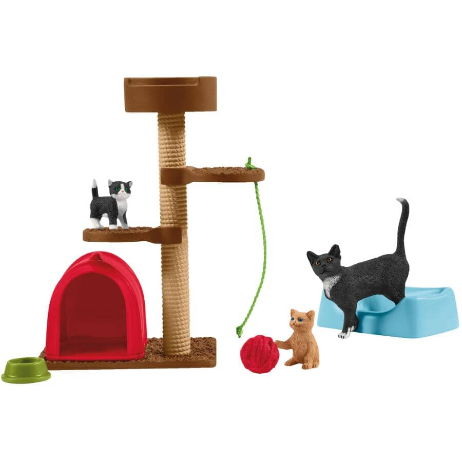 SCHLEICH:Playtime for Cute Cats Figures