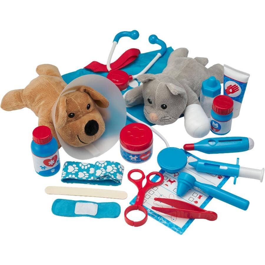 MELISSA & DOUG:Examine & Treat Pet Vet Playset - 24 Pieces