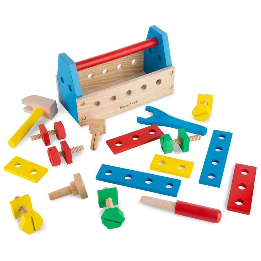 MELISSA & DOUG:Ensemble de coffre à outils de 24 pièces pour enfants