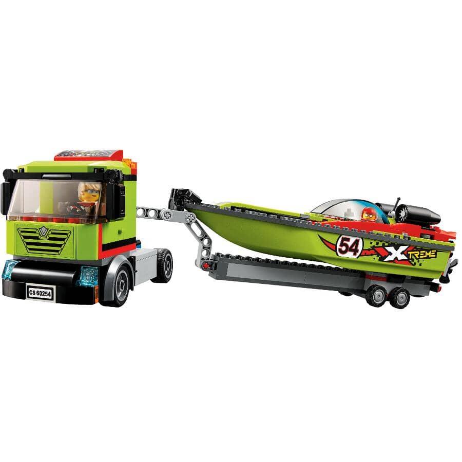 LEGO:Jeu de la collection City, Le transport du bateau de course, super véhicules