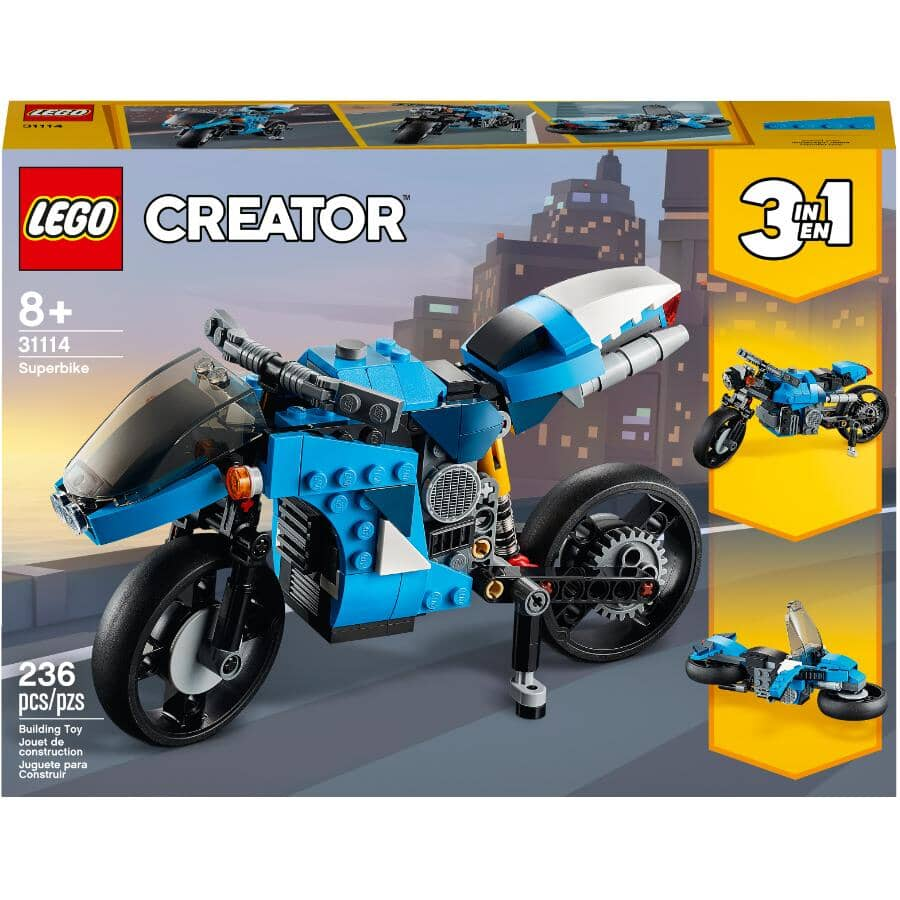 LEGO:Creator 3-in-1 Superbike Building Set