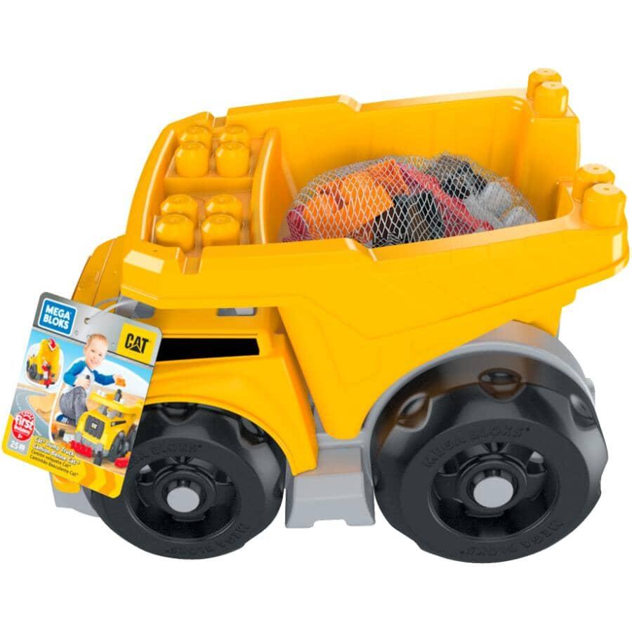 MATTEL:Cat Truck Dump Mega Building Blocks Set