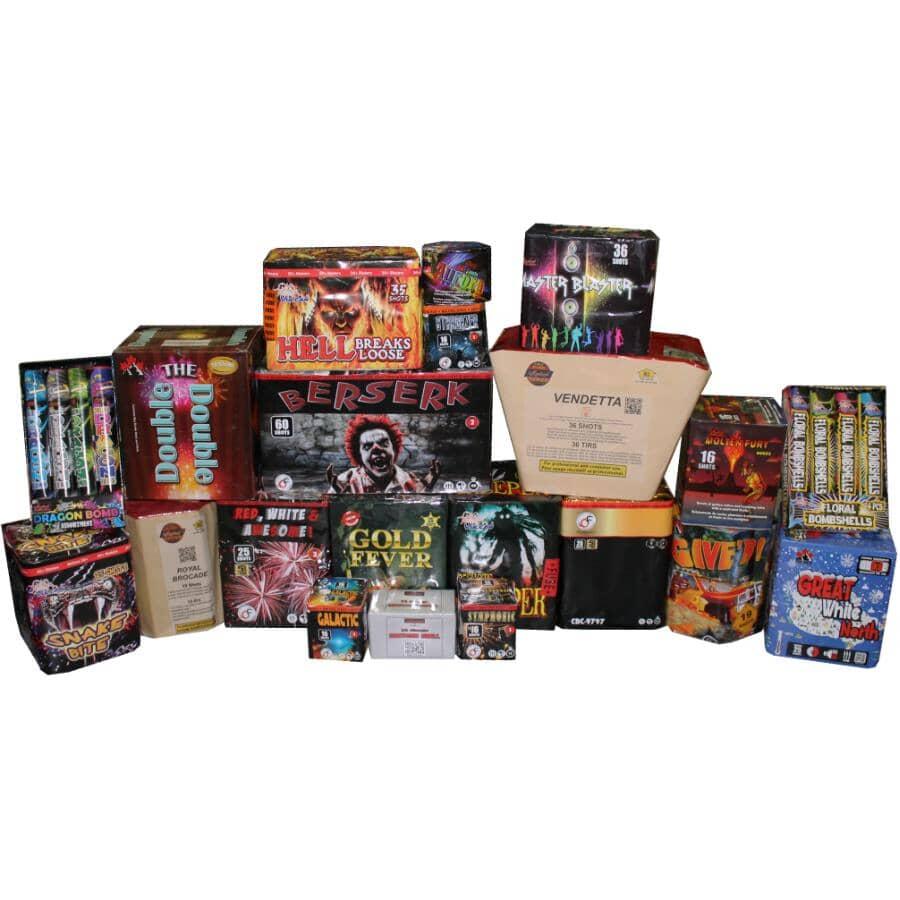BLAST-OFF FIREWORKS:Ammunition Crate Fireworks - 33 Piece