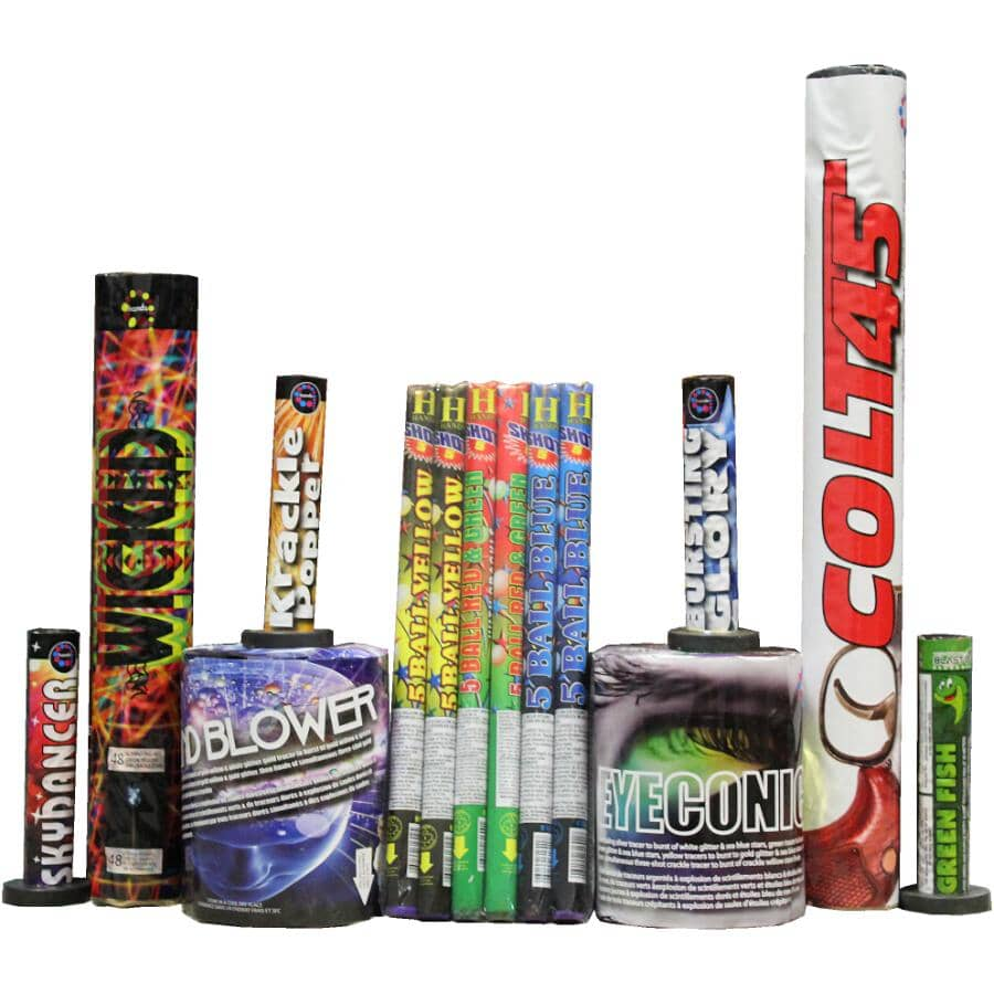 BLAST-OFF FIREWORKS:Cordless Thrill Fireworks - 14 Piece