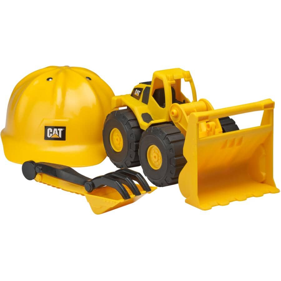 TOY STATE:Caterpillar Construction Vehicle with Hard Hat, Assorted Vehicles