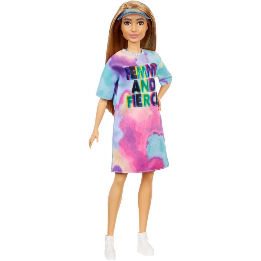 MATTEL:Poupée Barbie Fashionista, avec robe Tie Dye