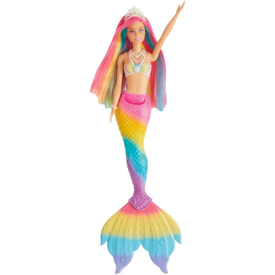 MATTEL:Poupée Barbie sirène Rainbow Magic Dreamtopia qui change de couleur