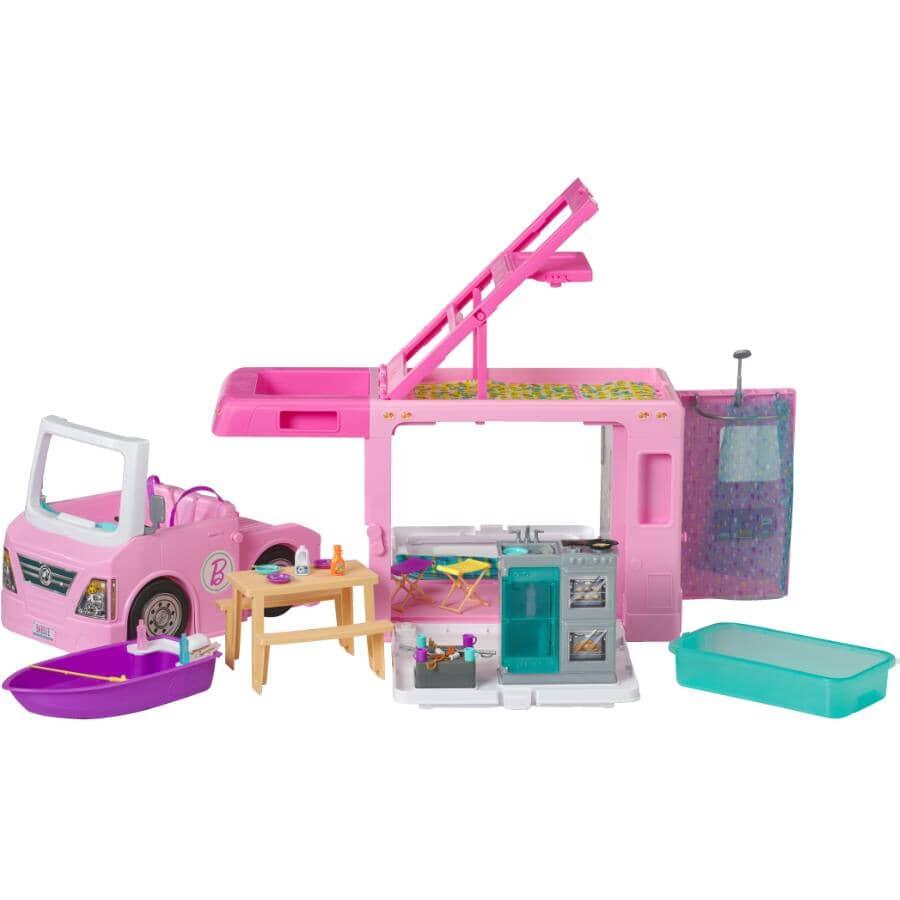 MATTEL:Véhicule et accessoires DreamCamper 3 en 1 Barbie