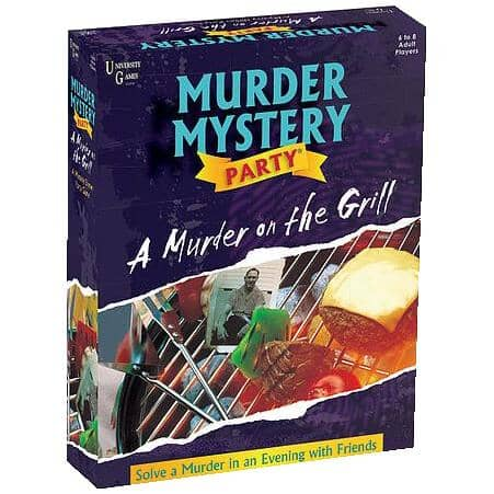 UNIVERSITY GAMES:Murder Mystery Party A Murder on the Grill Adult Game