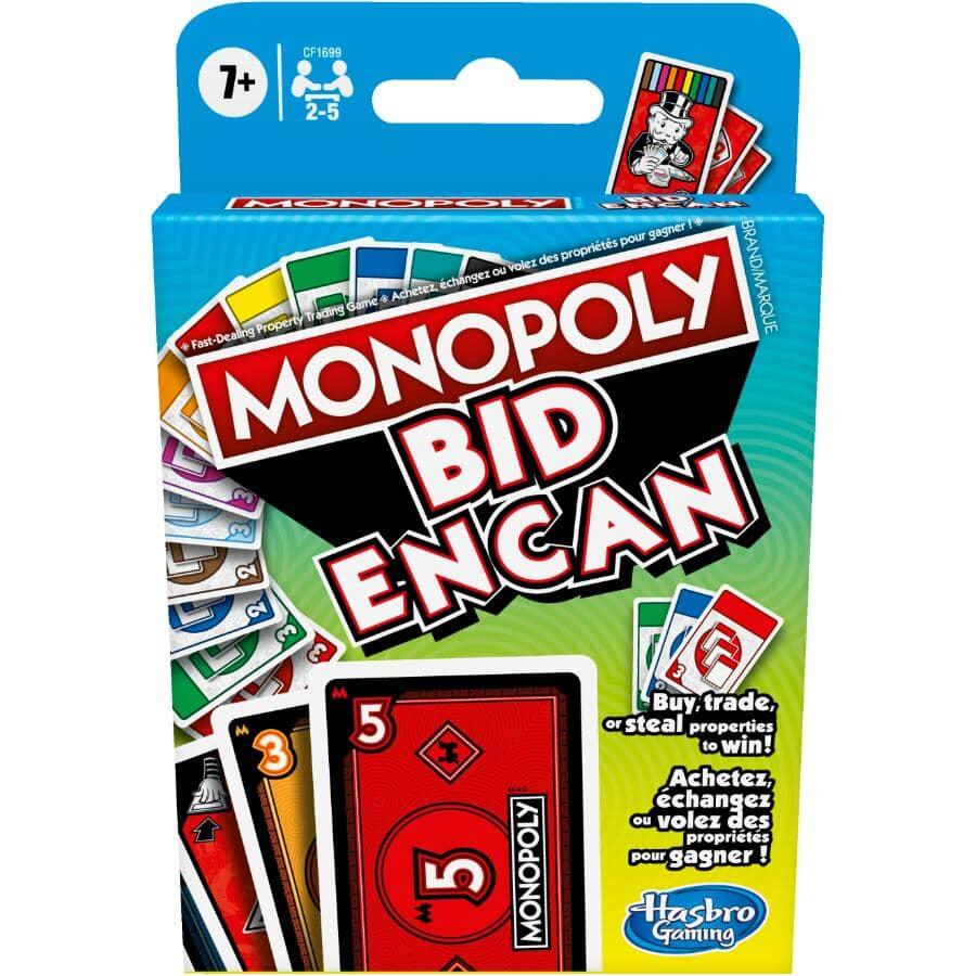 HASBRO:Monopoly Bid Card Game