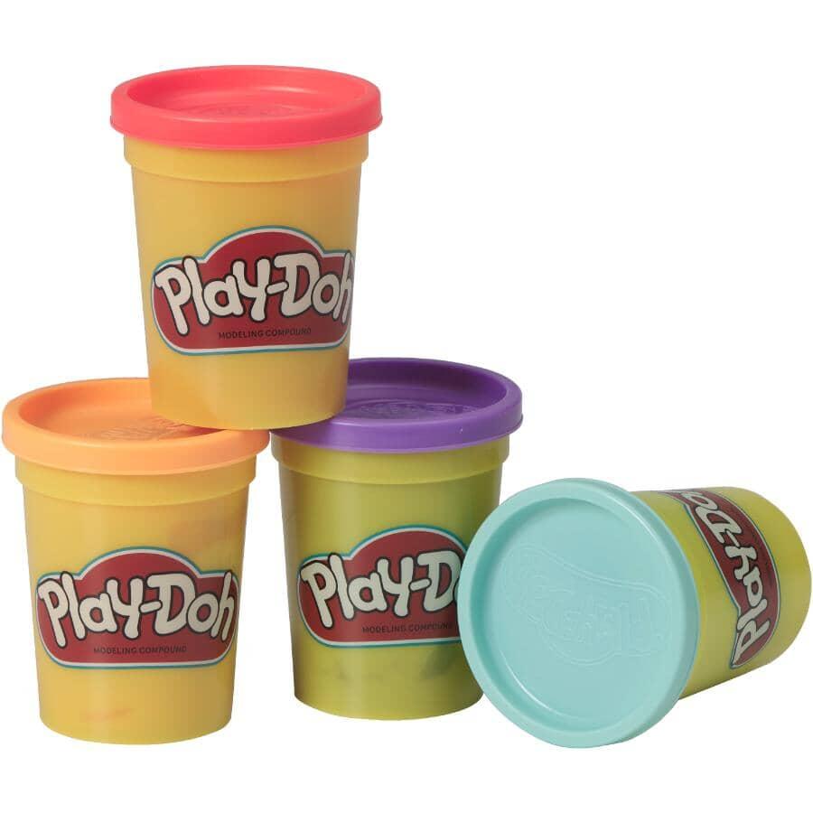 HASBRO:Paquet de 4 contenants de pâte à modeler Play-Doh, couleurs variées