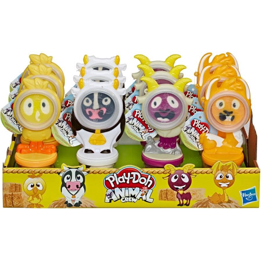 HASBRO:Animal Crew Play-Doh Can Pals - Assorted
