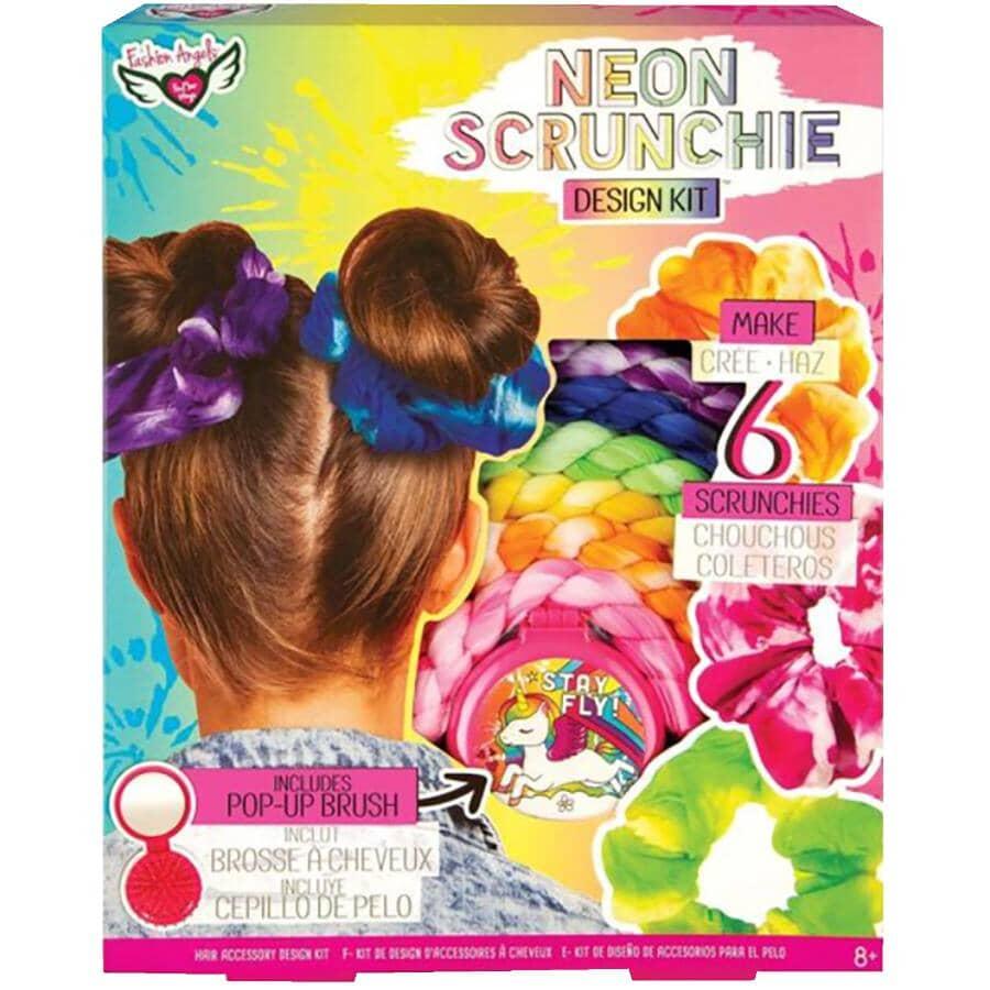 FASHION ANGELS:Neon Tie Dye Scrunchie Design Kit