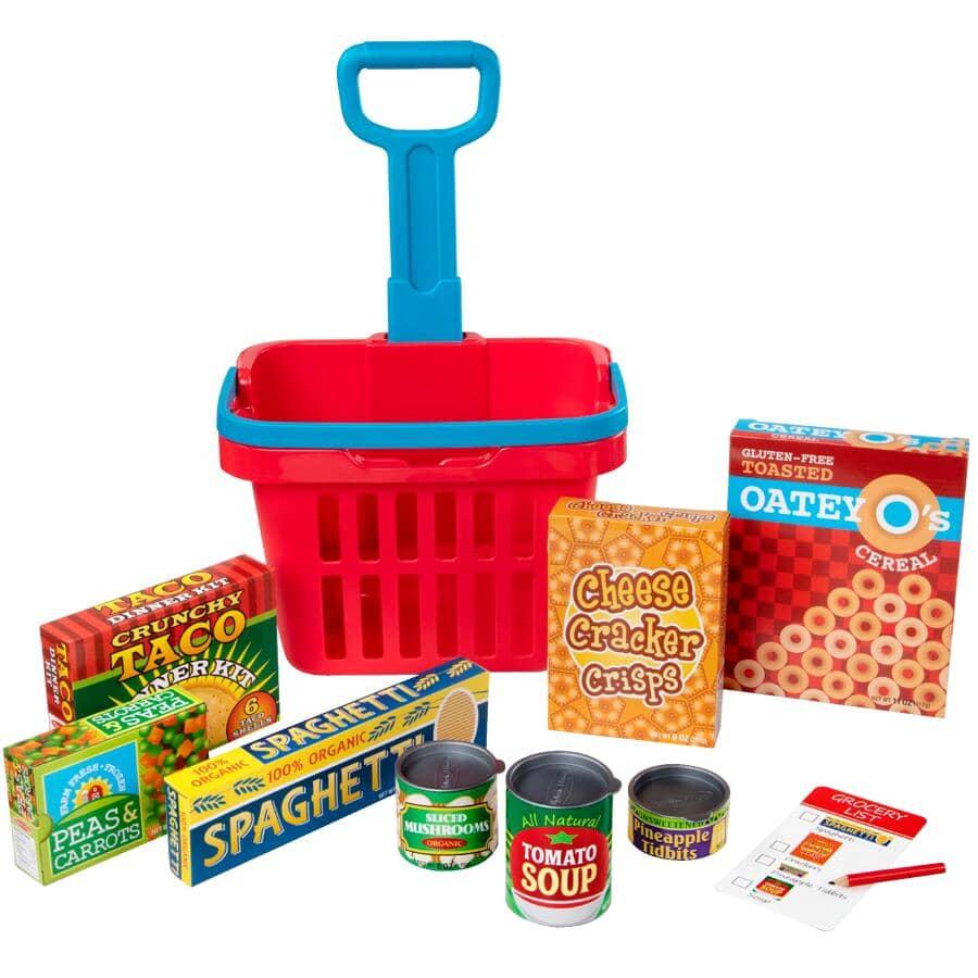 MELISSA & DOUG:Fill & Roll Grocery Basket Playset