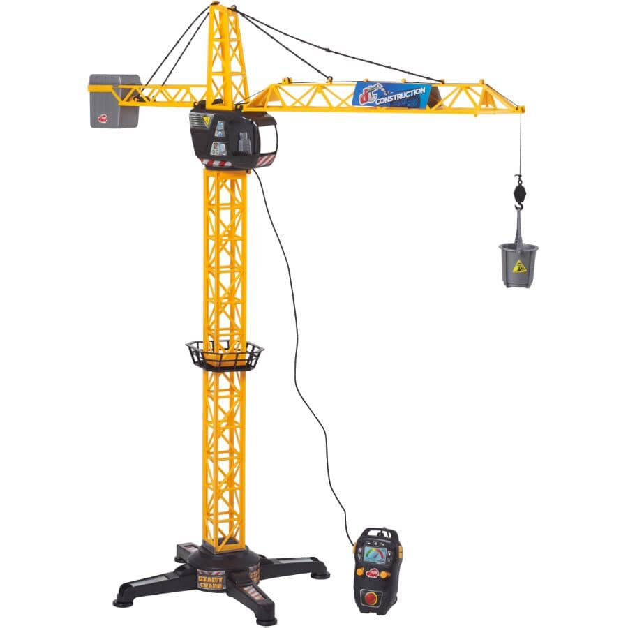 DICKIE TOYS:Grue géante télécommandée avec sons et lumières