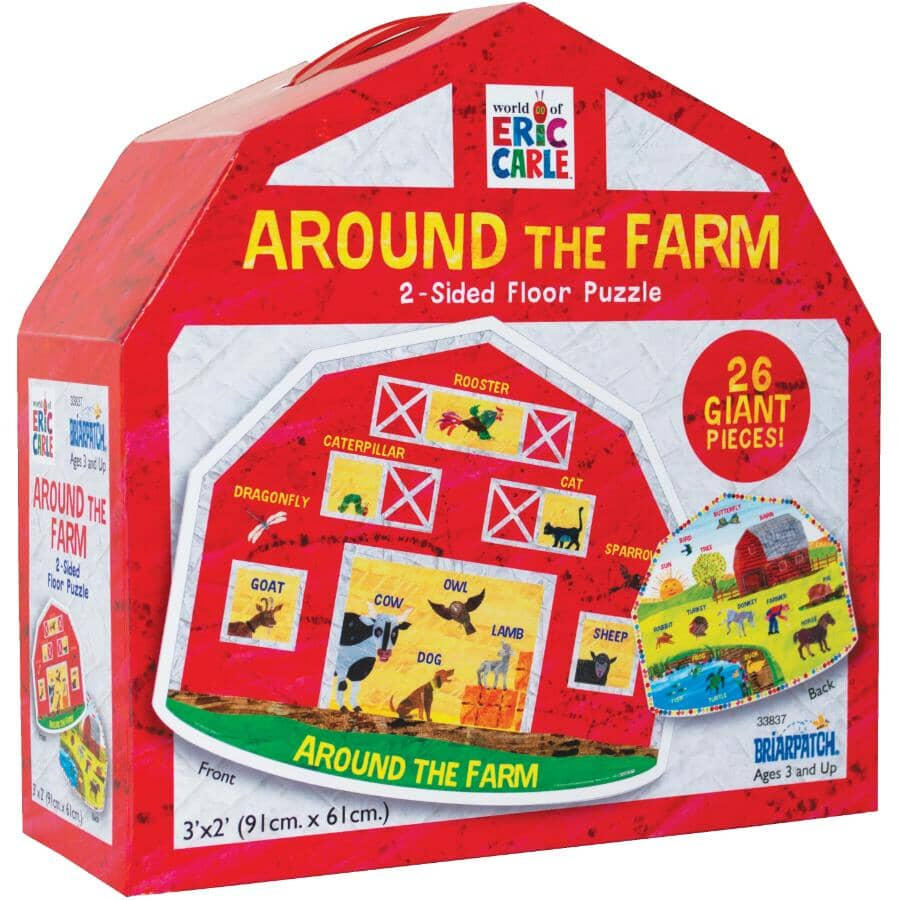 UNIVERSITY GAMES:Around the Farm 2 Sided Kids Puzzle