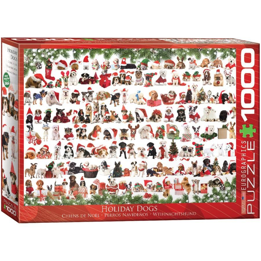 EUROGRAPHICS:Holiday Dogs Puzzle - 1000 Pieces