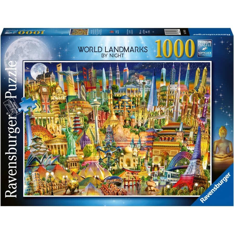 RAVENSBURGER:1000 Piece Landmarks By Night Puzzle