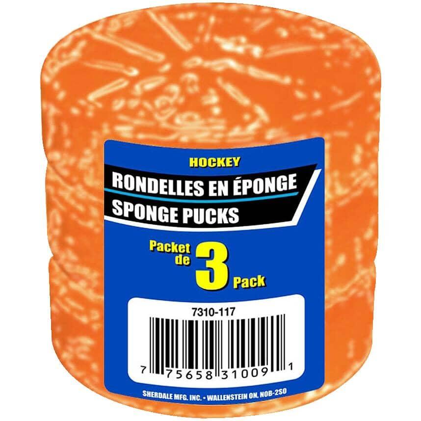 LINWOOD:Sponge Hockey Pucks - Orange, 3 Pack
