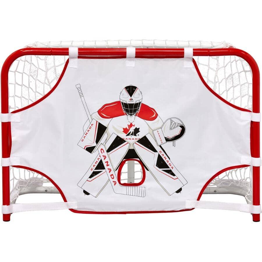 HOCKEY CANADA:Ensemble de mini-hockey avec but, 31 x 21 x 12 po