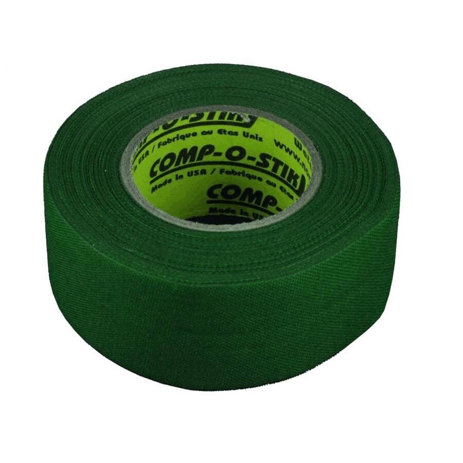 COMP-O-STIK:30mm x 12m Green Cloth Hockey Tape