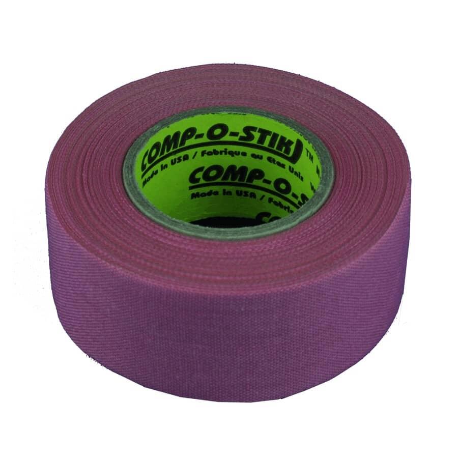 COMP-O-STIK:30mm x 12m Pink Cloth Hockey Tape