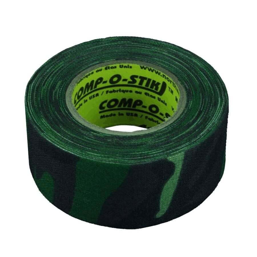 COMP-O-STIK:30mm x 12m Camo Cloth Hockey Tape