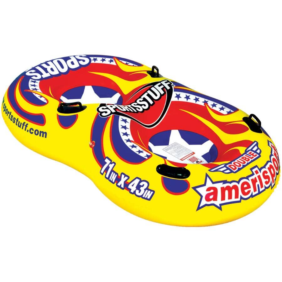 "SPORTSSTUFF:78"" Inflatable Amerisport 2 Rider Snow Tube"