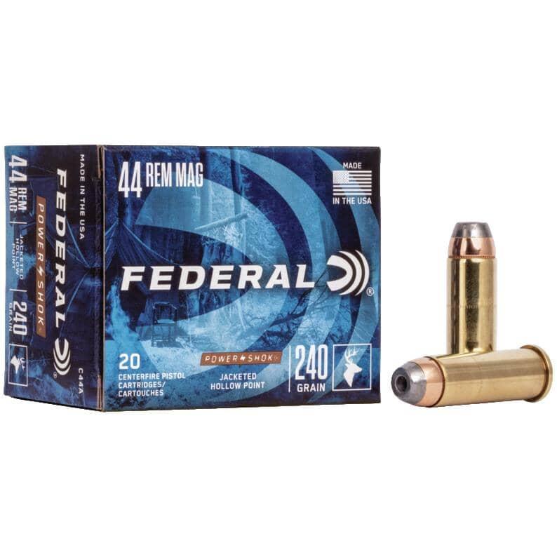 FEDERAL AMMUNITION:44 Remington 240 Grain Power-Shok Ammunition - 20 Rounds