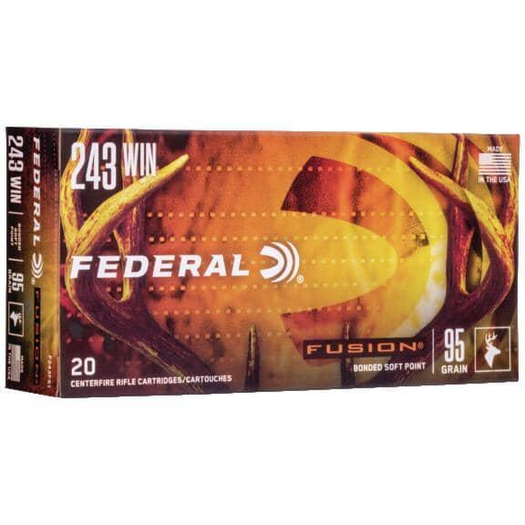 FEDERAL AMMUNITION:243 Winchester 95 Grain Fusion Ammunition - 20 Rounds