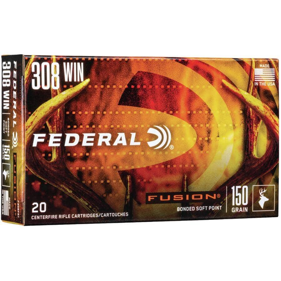FEDERAL AMMUNITION:308 Winchester 150 Grain Fusion Ammunition - 20 Rounds