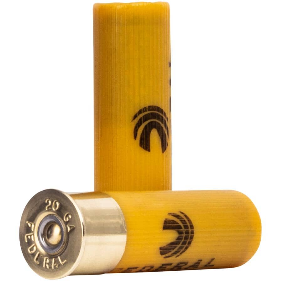 FEDERAL AMMUNITION:20 Gauge #4 High Brass Game Load Ammunition - 25 Rounds