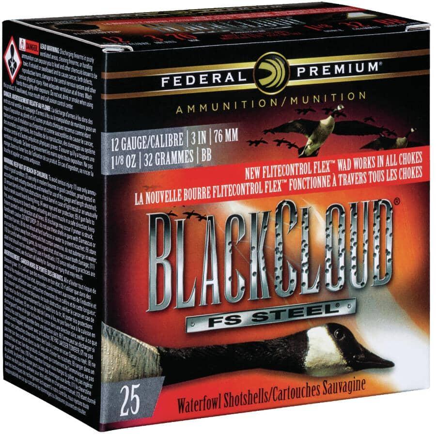 "FEDERAL AMMUNITION:3"" 12 Gauge #BB High Velocity BlackCloud Ammunition - 25 Rounds"