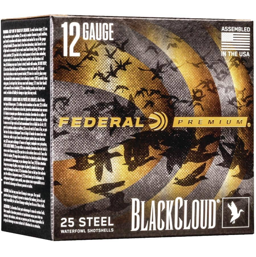 "FEDERAL AMMUNITION:3"" 12 Gauge #4 BlackCloud Ammunition - 25 Rounds"
