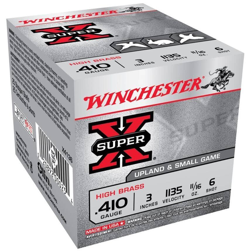 "WINCHESTER:3"" 410 Gauge #6 Super-X Ammunition - 25 Rounds"