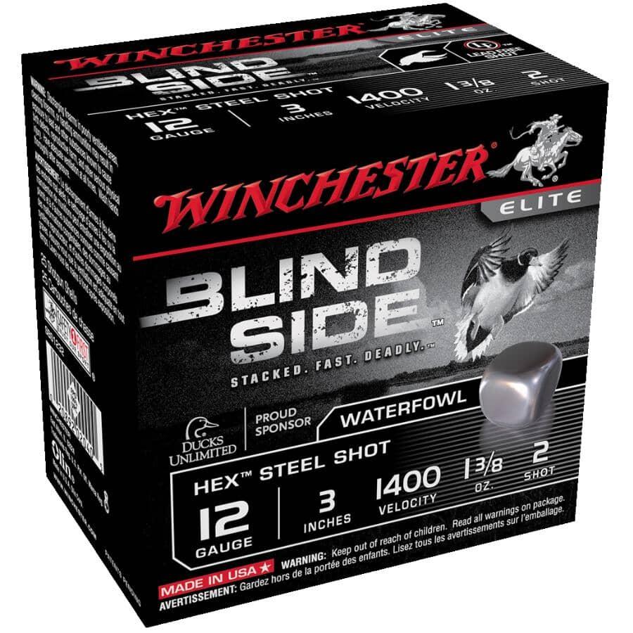 WINCHESTER:Blind Side Hex 12 Gauge Steel Shot Ammunition - 25 Rounds